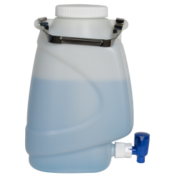 5 Liter Diamond® RealSeal™ Rectangular HDPE Carboy with Spigot