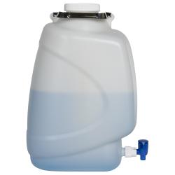20 Liter Diamond® RealSeal™ Rectangular HDPE Carboy with Spigot