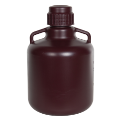 Diamond® RealSeal™ Round Amber HDPE Carboys