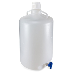 50 Liter Diamond® RealSeal™ Round LDPE Carboy with Spigot