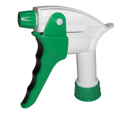 "28/400 White & Green Big Blaster Cushion Grip Sprayer with 9-1/2"" Dip Tube"
