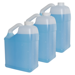 128 oz./1 Gallon Slant Handle Natural HDPE F-Style Jug with 38/400 CRC Cap