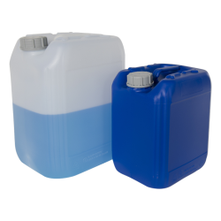 Natural & Blue HDPE Jerricans with Tamper Evident Caps