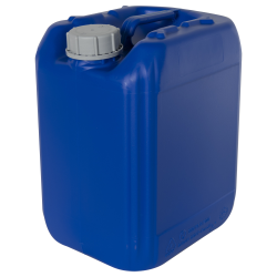 10 Liter/2.64 Gallon Blue HDPE Jerrican with 51mm Tamper-Evident Cap