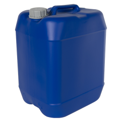 30 Liter/7.93 Gallon Blue HDPE Jerrican with 61mm Tamper-Evident Cap