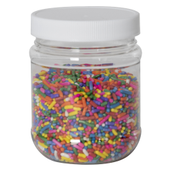 8 oz. Clear PET Jar with 63/400 Cap