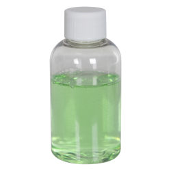 2 oz. Clear PET Squat Boston Round Bottle with 20/410 Plain Cap