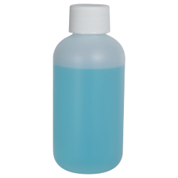 4 oz. HDPE Natural Boston Round Bottle with 24/410 Plain Cap