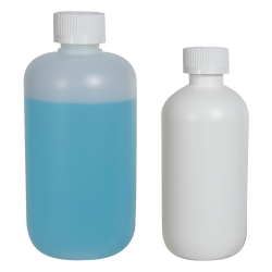 HDPE Boston Round Bottles with CRC Caps
