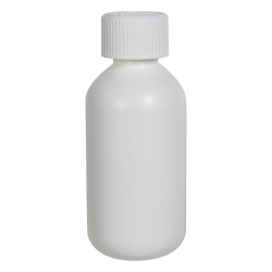 2 oz. HDPE White Boston Round Bottle with 20/410 CRC Cap