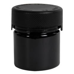 2 oz./60cc Black PET Aviator Container with Black CR Cap & Seal