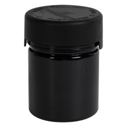 3 oz./90cc Black PET Aviator Container with Black CR Cap & Seal
