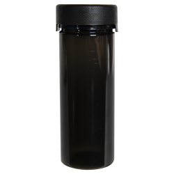 8 oz./240cc Translucent Black PET Aviator Container with Black CR Cap & Seal