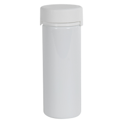 8 oz./240cc White PET Aviator Container with White CR Cap & Seal