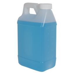 64 oz. Graduated Natural F-Style Jug with 38/400 CRC Cap with F217 Liner