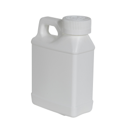 8 oz. White F-Style Jug with 28/400 White CRC Cap with F217 Liner