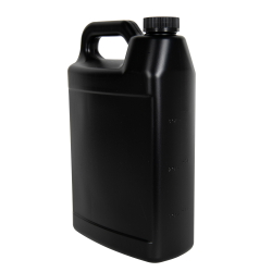1 Gallon Black F-Style Jug with 38/400 Black CRC Cap with F217 Liner
