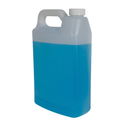 1 Gallon Natural F-Style Jug with 38/400 White CRC Cap with F217 Liner