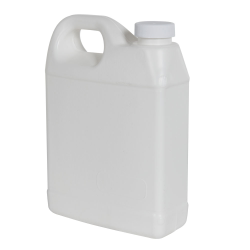 32 oz. White Fluorinated F-Style Jug with 33/400 Plain Cap