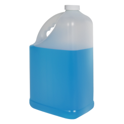 128 oz. HDPE Slant Handle Jug with 38/400 Plain Cap