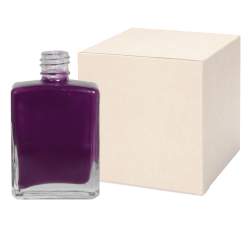 1/2 oz. Clear Rectangular Glass Bottle with 13/415 Neck - Case of 360 (Cap Sold Separately)