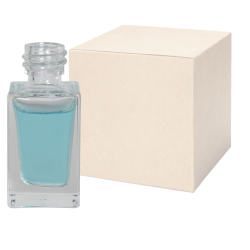 15mL Clear Tall Rectangular Glass Bottle with 18/415 Neck - Case of 360 (Cap Sold Separately)