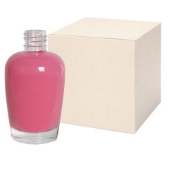 50mL Clear Glass Apple Style Bottle with 18/415 Neck - Case of 126 (Cap Sold Separately)