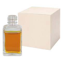 1 oz. Clear Rounded Square Glass Bottle with 18/415 Neck - Case of 288 (Cap Sold Separately)