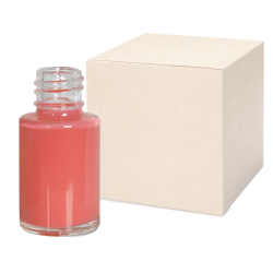 1/2 oz. Clear Stubby Cylinder Glass Bottle with 13/415 Neck - Case of 525 (Cap Sold Separately)