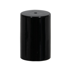 Black Polypropylene Cap for 17mm Glass Roll-On Bottle