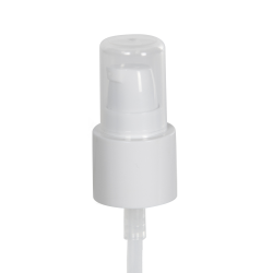 "20/400 White Smooth Long Shell Treatment Pump - 3-1/4"" Dip Tube"
