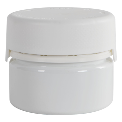 7.5 oz./225cc White PET Aviator Container with White CR Cap & Seal