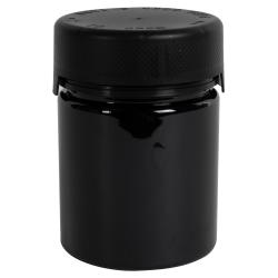 18.5 oz./550cc Black PET Aviator Container with Black CR Cap & Seal