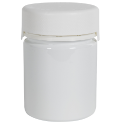 18.5 oz./550cc White PET Aviator Container with White CR Cap & Seal