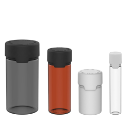 Aviator Child Resistant Bottles with Caps