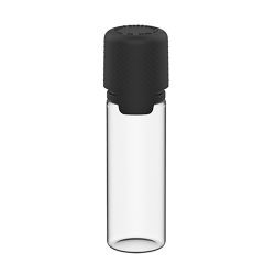 16.5mL Clear PET Aviator Bottle with Black CR Cap & Seal
