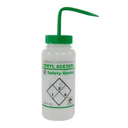 500mL Ethyl Acetate Safety Vented® Labeled Wash Bottles