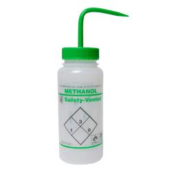 500mL Methanol Safety Vented® Labeled Wash Bottles