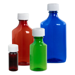Liquid Bottles with CR Caps & Dosing Syringes