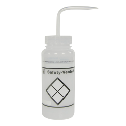 250mL Label Your Own Safety Vented® Labeled Wash Bottles