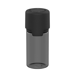 30mL Translucent Black PET Stubby Aviator Bottle with Black CR Cap & Seal