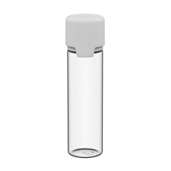 60mL Clear PET Aviator Bottle with White CR Cap & Seal