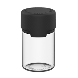 60mL Clear PET Stubby Aviator Bottle with Black CR Cap & Seal