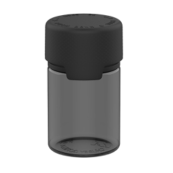 60mL Black PET Stubby Aviator Bottle with Black CR Cap & Seal