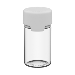 75mL Clear PET Stubby Aviator Bottle with White CR Cap & Seal