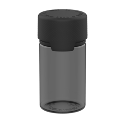 75mL Translucent Black PET Stubby Aviator Bottle with Black CR Cap & Seal
