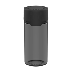 100mL Translucent Black PET Aviator Bottle with Black CR Cap & Seal