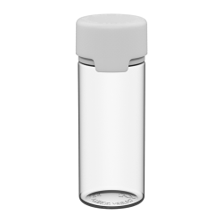 120mL Clear PET Aviator Bottle with White CR Cap & Seal
