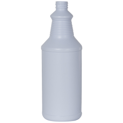 32 oz. White HDPE Decanter Spray Bottle with 28/410 Neck (Sprayers or Caps Sold Separately)