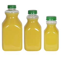 PET Square Beverage Bottles with Caps